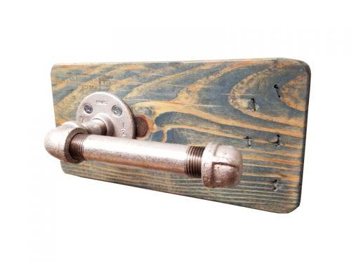 pipe toilet paper holder
