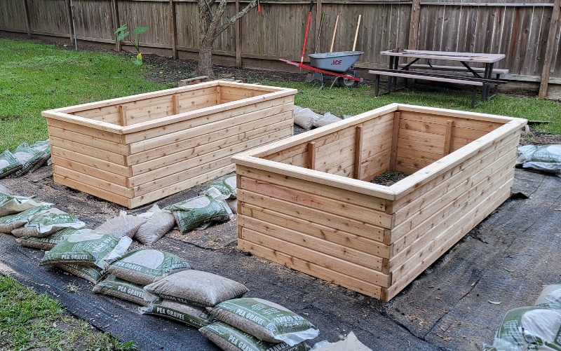 cedar raised garden bed houston