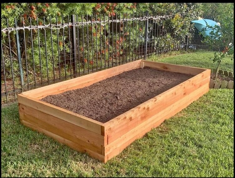 cedar raised garden bed